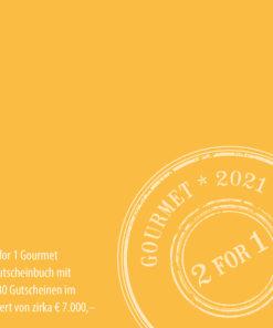 2for1 Gourmet Gutscheinbuch 2021